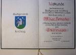 Ehrenbürgerurkunden