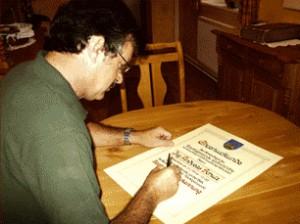 Handgefertigte Ehren-Urkunden